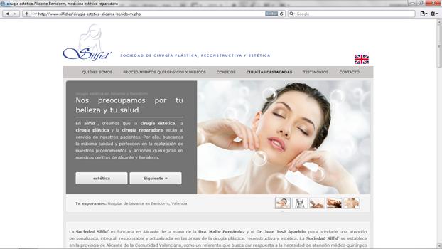 Página de silfid.es diseñada por hostea.pe