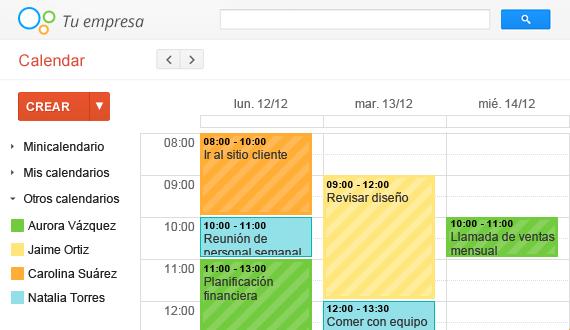 Google Calendar te permite ver cuando las personas con las que trabajas estan disponibles