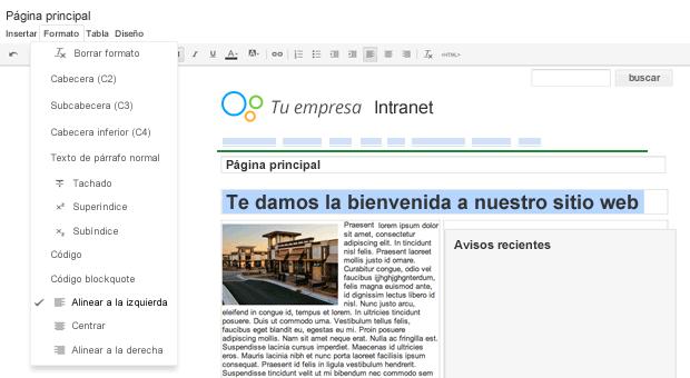 Crea de una manera fácil una página para un plan de proyectos.